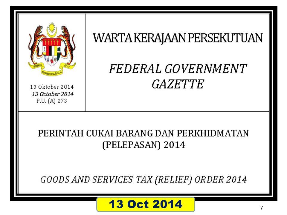 报税 报税 Filing of GST return 58 © 2014 Great Vision Business Advisory Services SB All Rights Reserved.