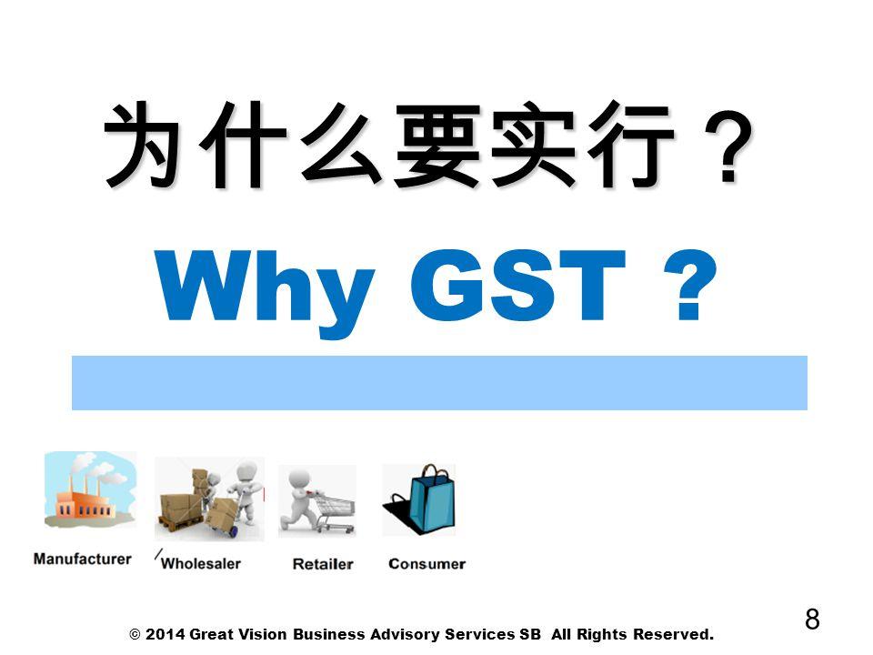 为什么消费税 为什么消费税 Why GST.