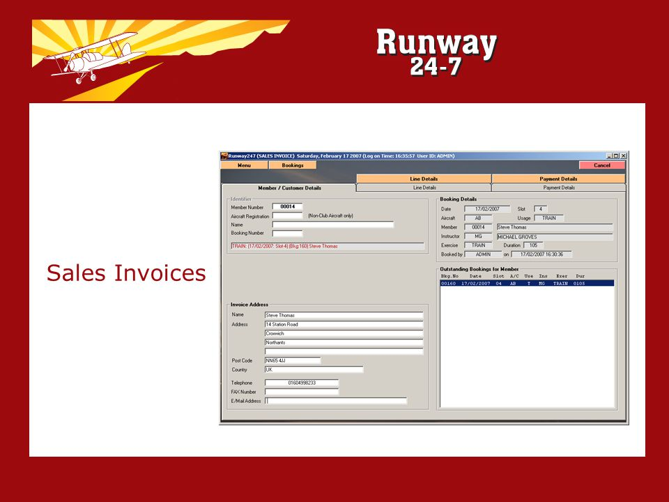 Sales Invoices