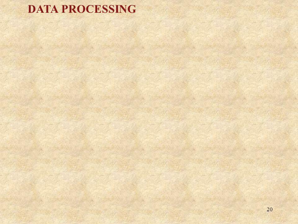 20 DATA PROCESSING