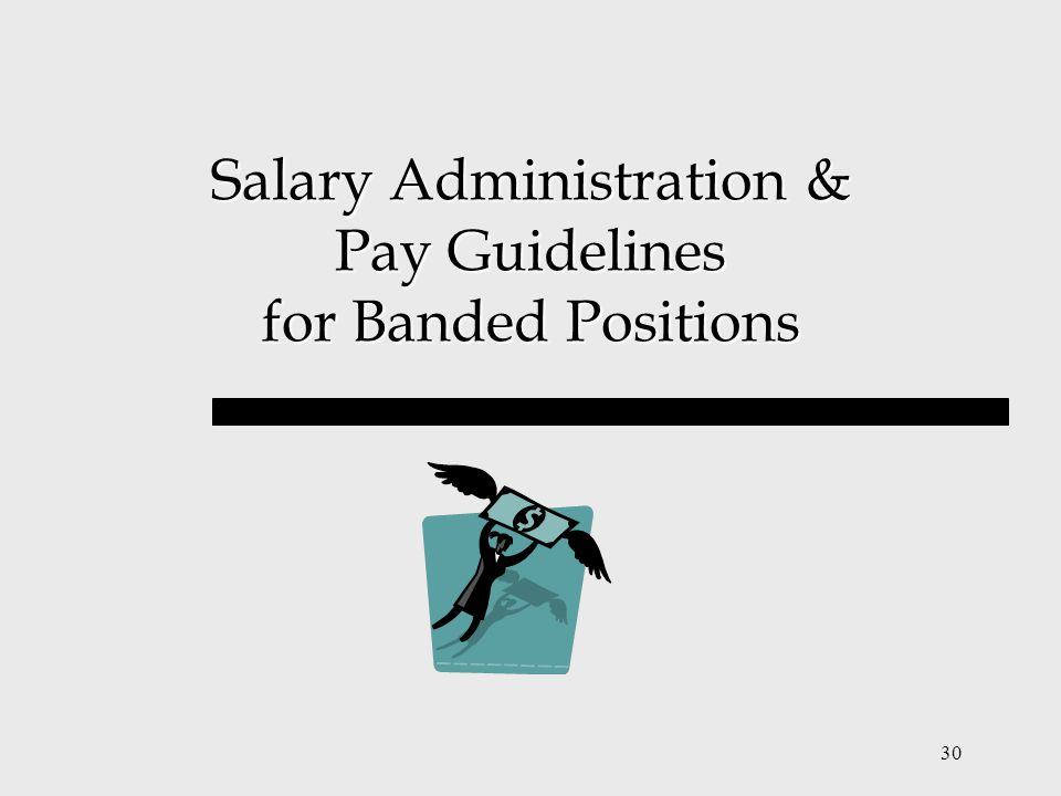30 Salary Administration & Pay Guidelines for Banded Positions