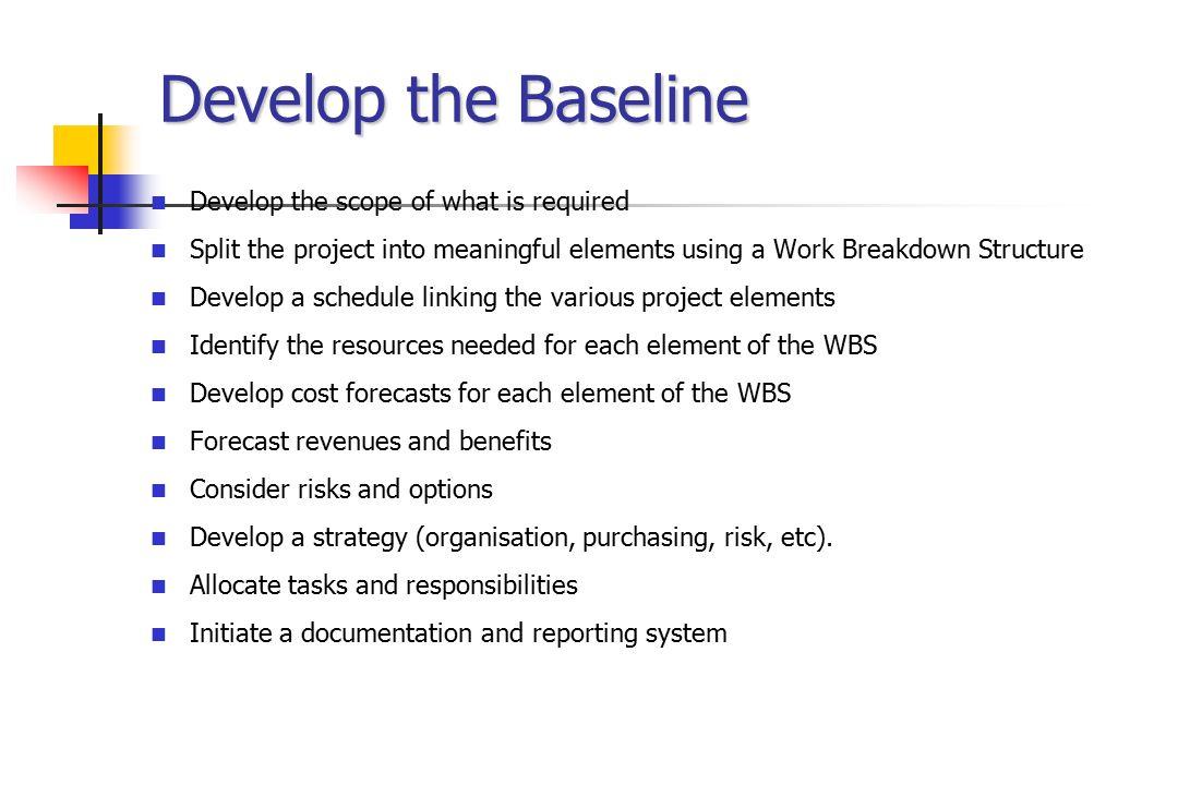 Breakdown Structure Cube Organisation Breakdown Structure (OBS) Work Breakdown Structure (WBS) R $ Cost Breakdown Structure (CBS) W