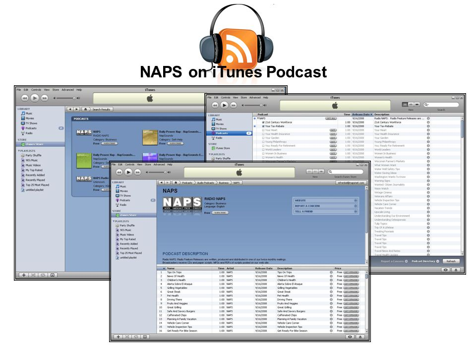 NAPS on iTunes Podcast