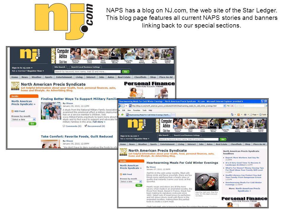 NAPS has a blog on NJ.com, the web site of the Star Ledger.