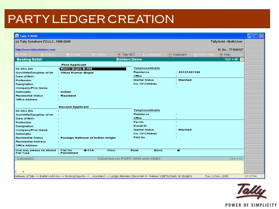 PARTY LEDGER CREATION