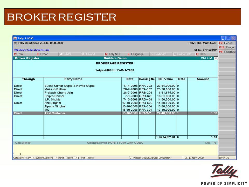BROKER REGISTER