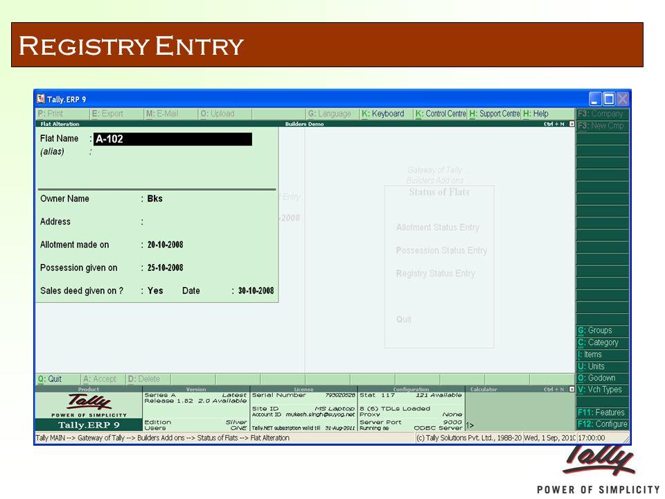Registry Entry