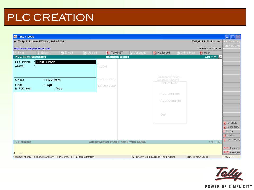 PLC CREATION