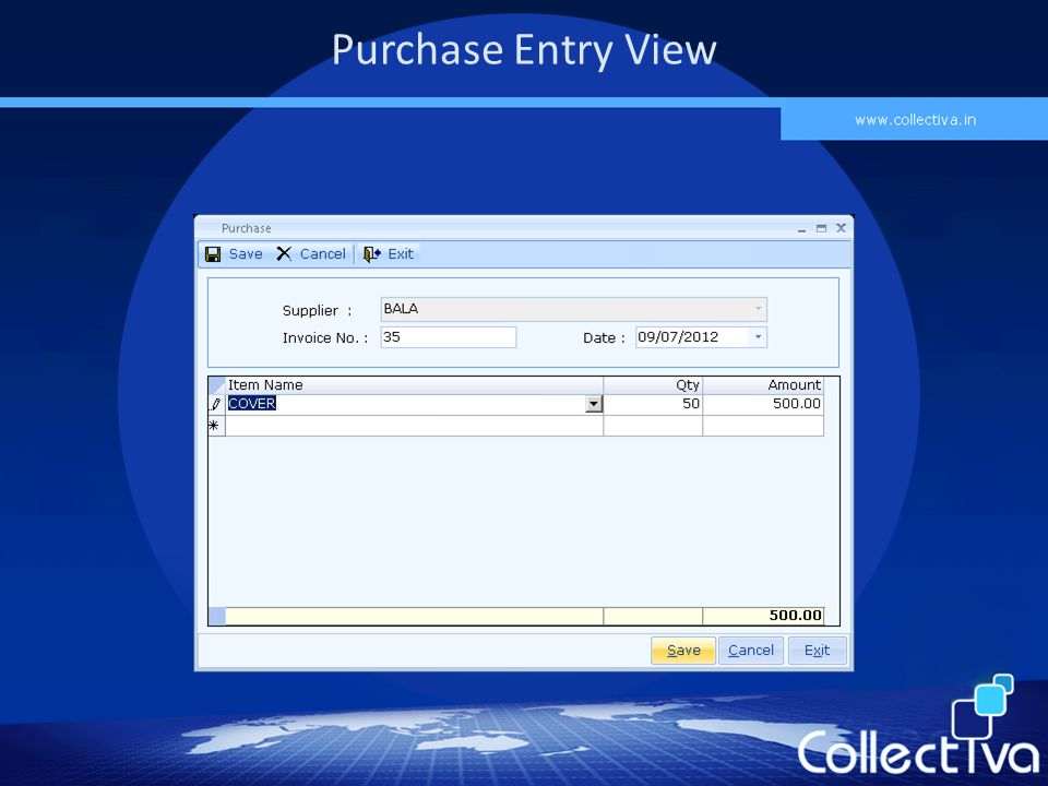 Purchase Entry View