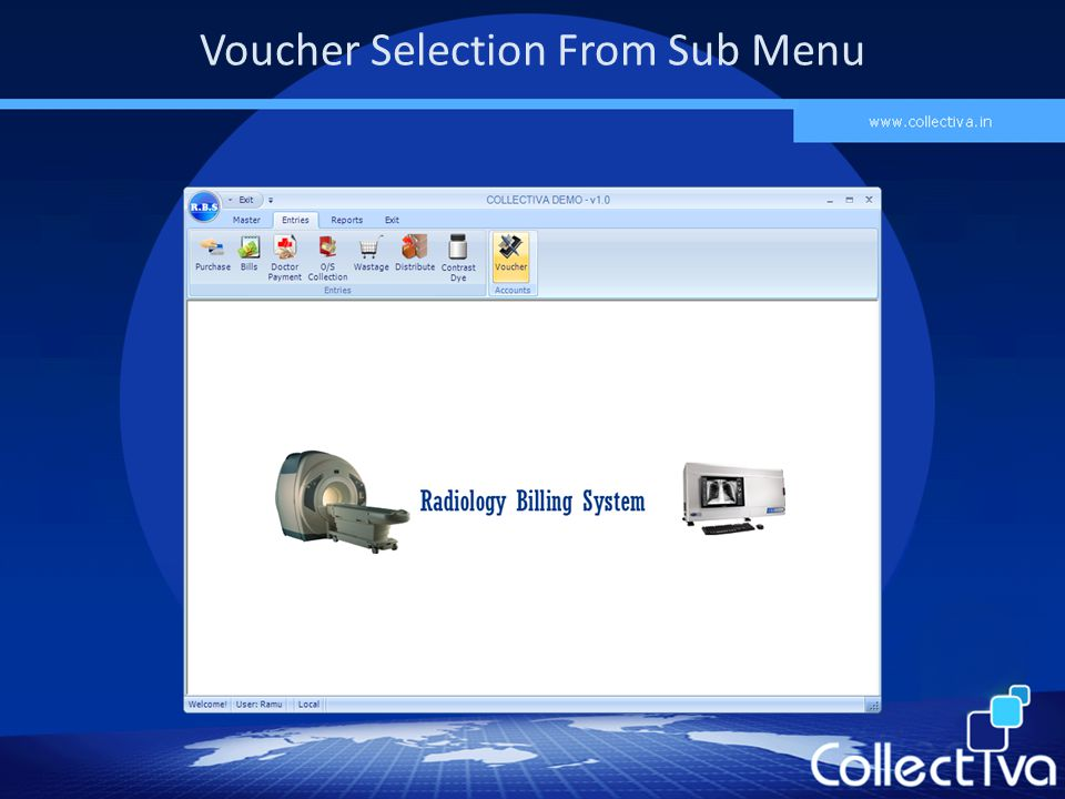Voucher Selection From Sub Menu