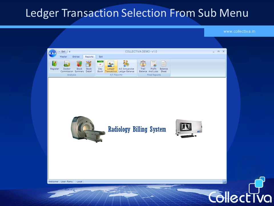 Ledger Transaction Selection From Sub Menu
