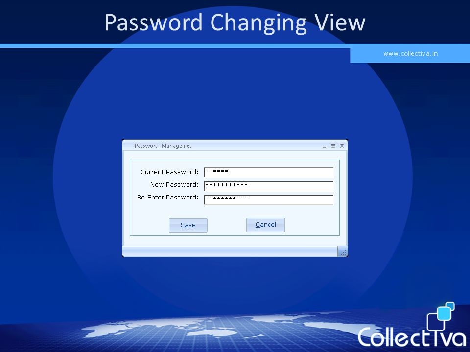 Password Changing View