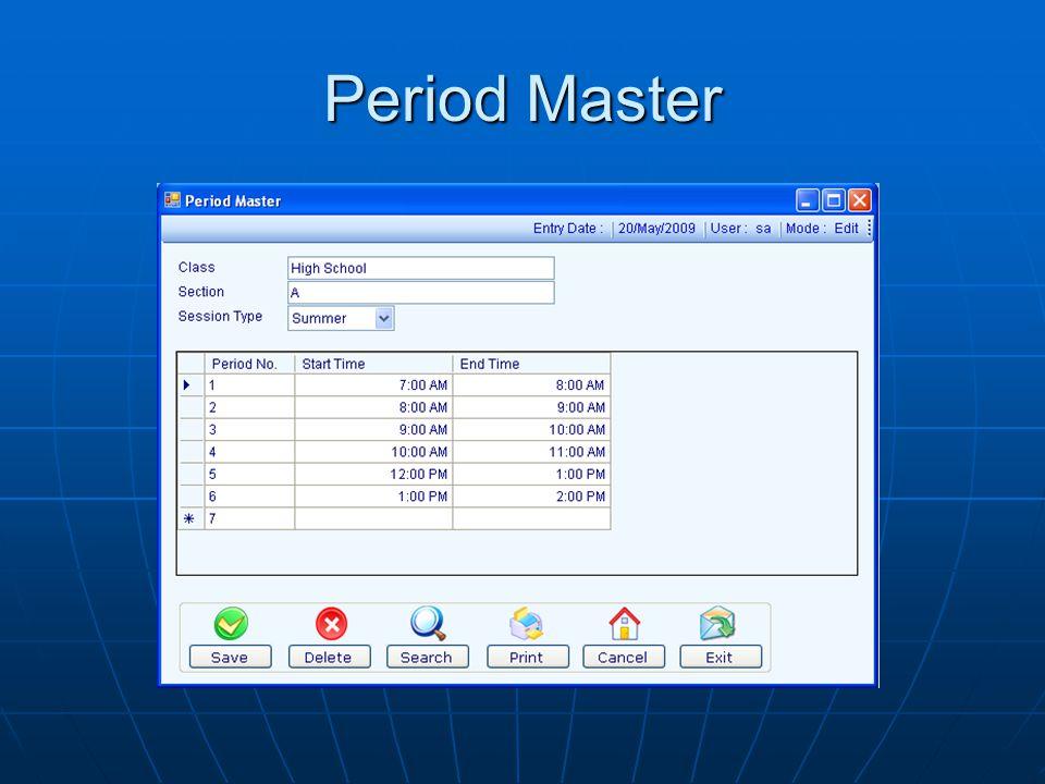 Period Master