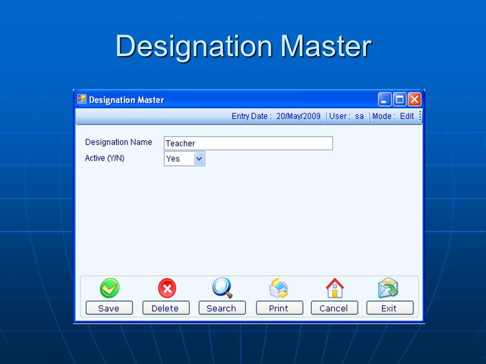 Designation Master