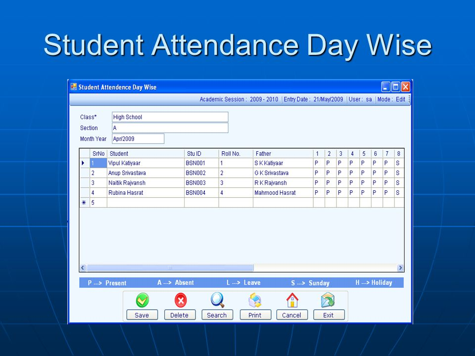 Student Attendance Day Wise