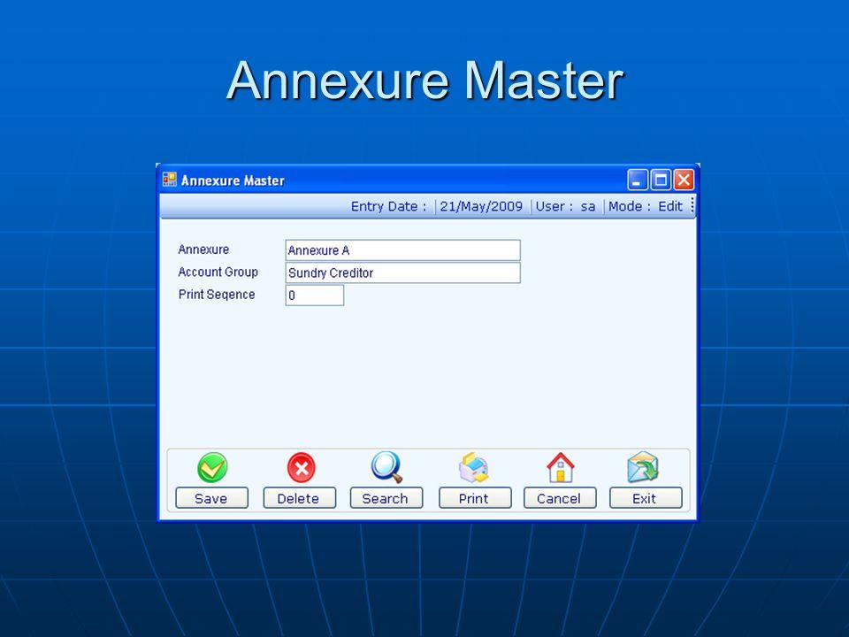 Annexure Master