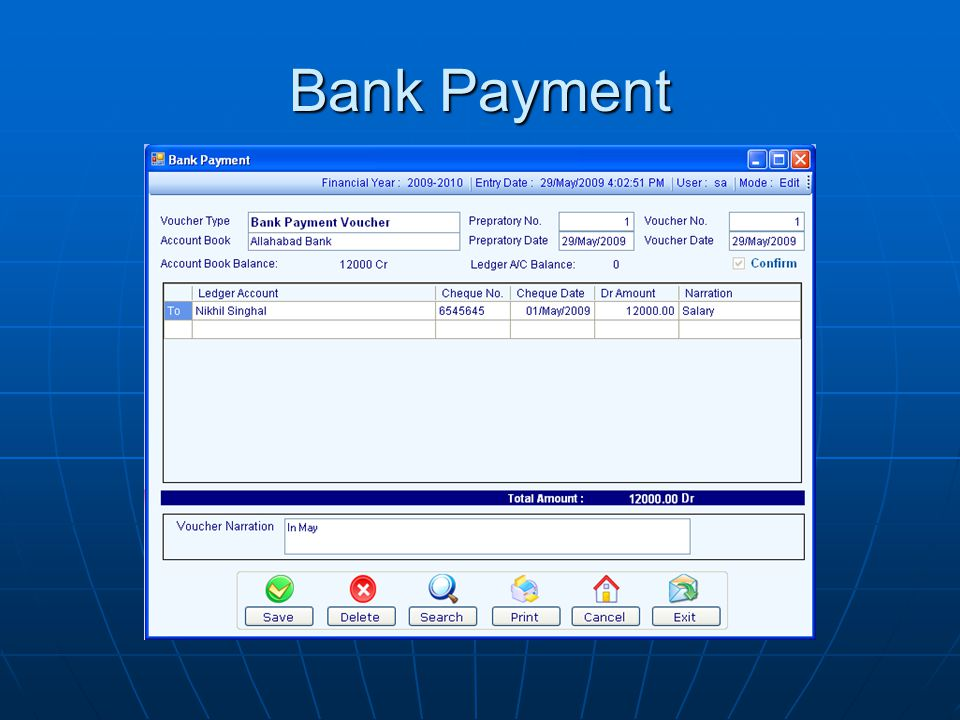 Bank Payment