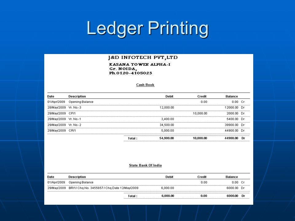 Ledger Printing