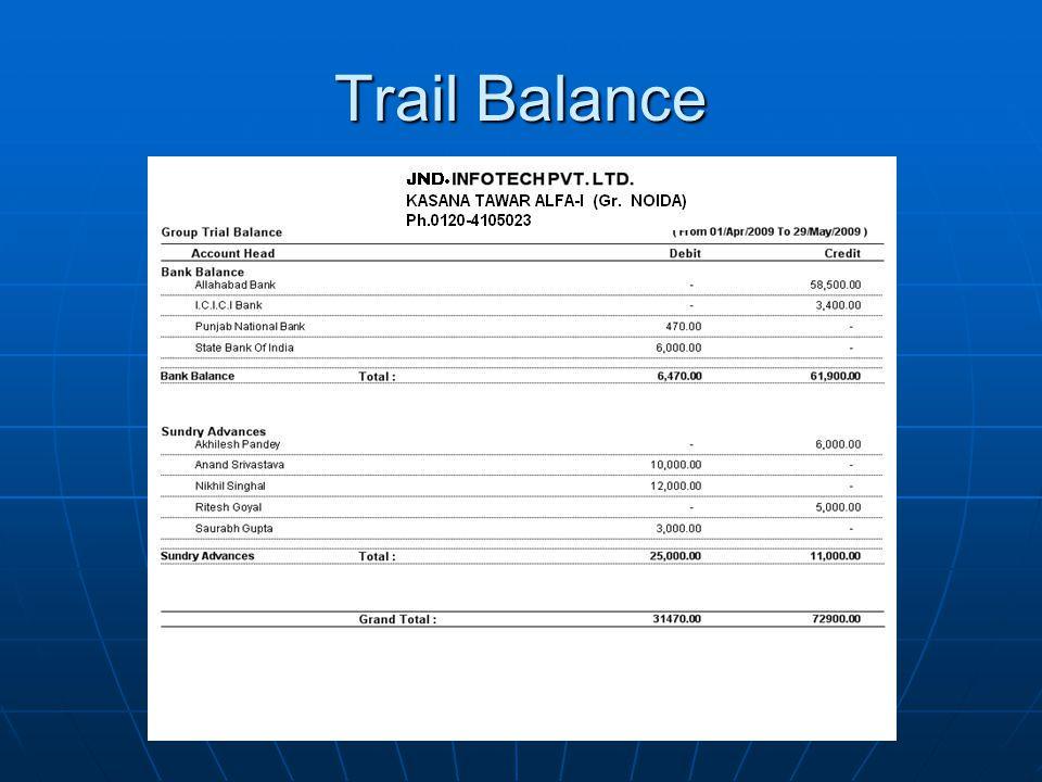 Trail Balance