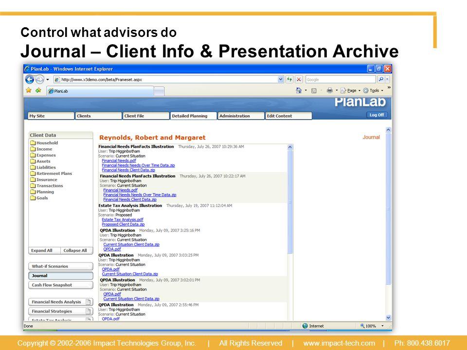 Copyright © 2002-2006 Impact Technologies Group, Inc.