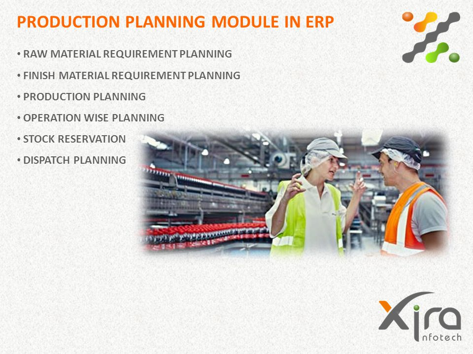 PRODUCTION PLANNING MODULE IN ERP RAW MATERIAL REQUIREMENT PLANNING FINISH MATERIAL REQUIREMENT PLANNING PRODUCTION PLANNING OPERATION WISE PLANNING S