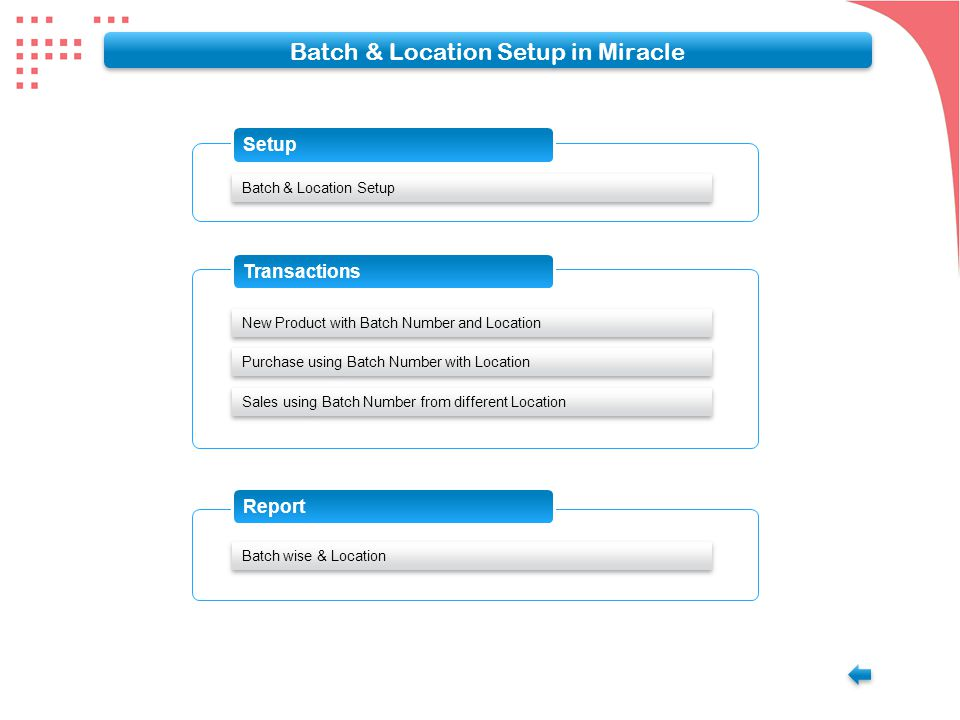 Main Menu Adding new Product with Opening Balance and Batch Number Give the Batch Name for the Quantity