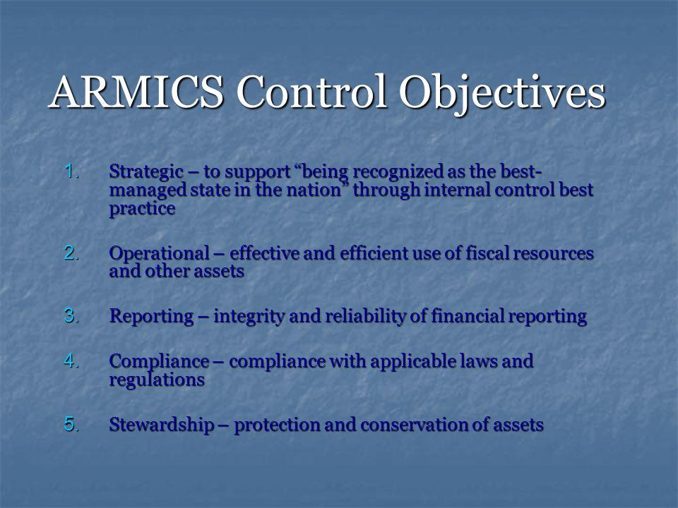 ARMICS Control Objectives 1.