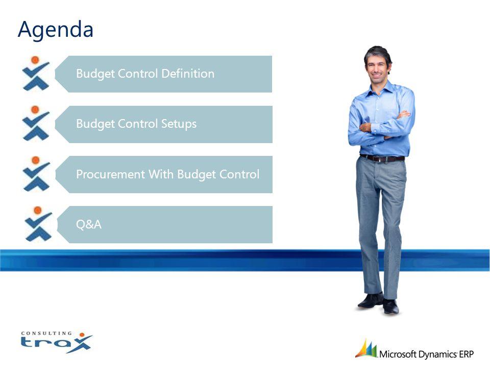 Agenda Budget Control Definition Budget Control Setups Procurement With Budget Control Q&A