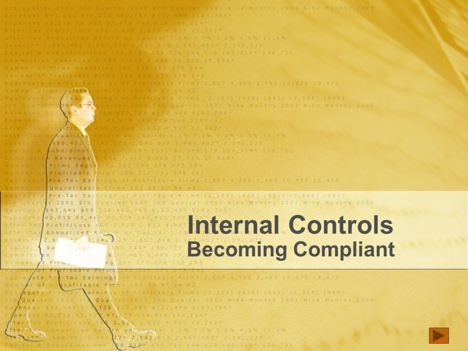 Internal Controls Becoming Compliant