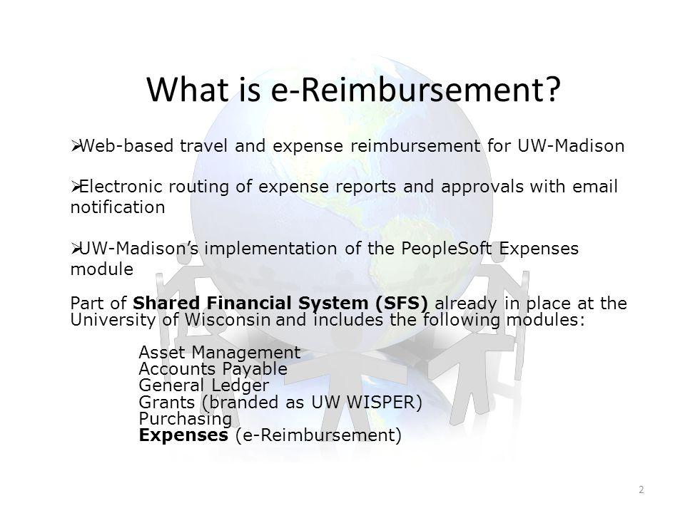 What is e-Reimbursement.