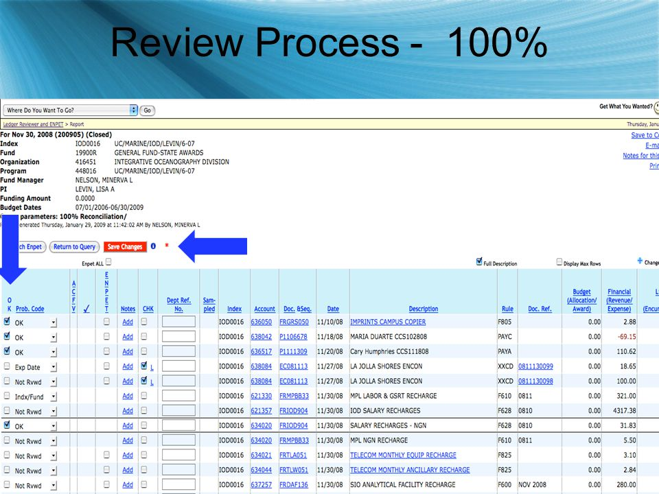 Review Process - 100%