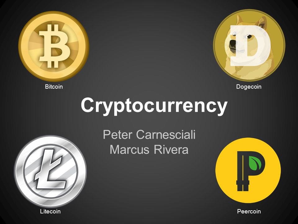 Cryptocurrency Peter Carnesciali Marcus Rivera BitcoinDogecoin LitecoinPeercoin