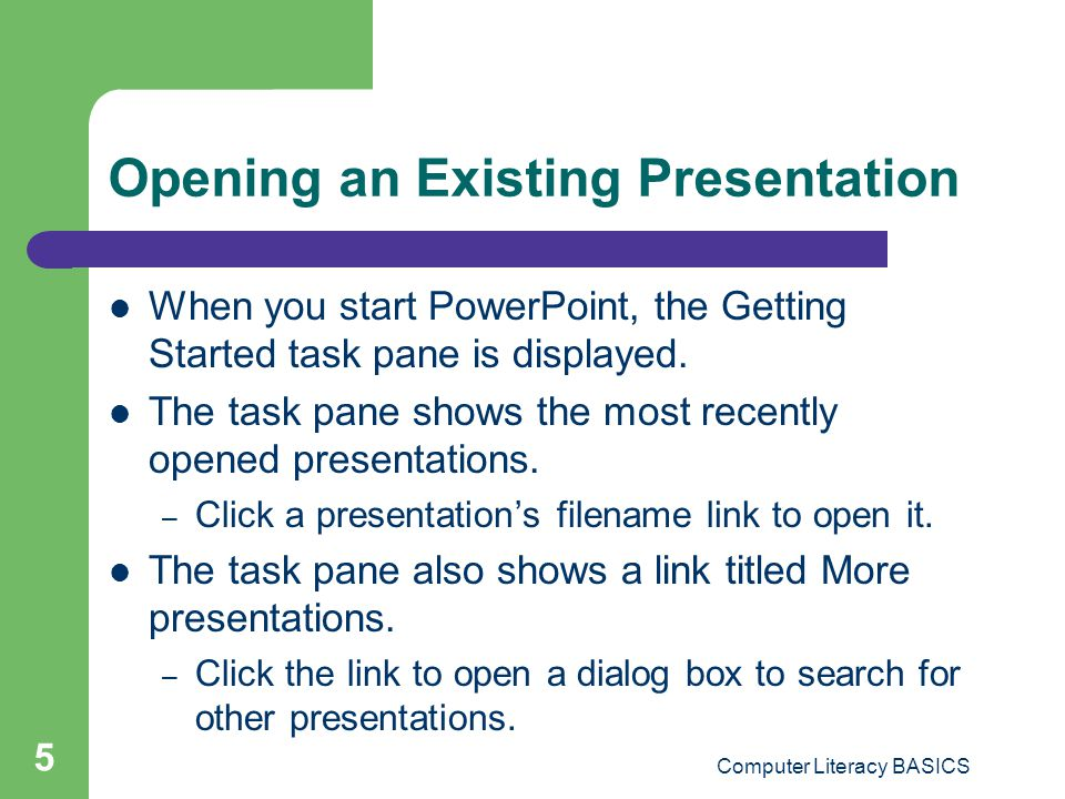 Computer Literacy BASICS 16 Effective Presentation Design (cont.) Limit the number of special features on one slide such as bullets, graphics, or numbered items.