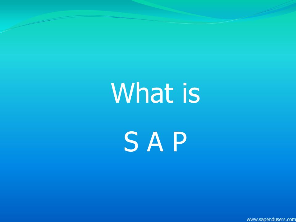 What is S A P www.sapendusers.com