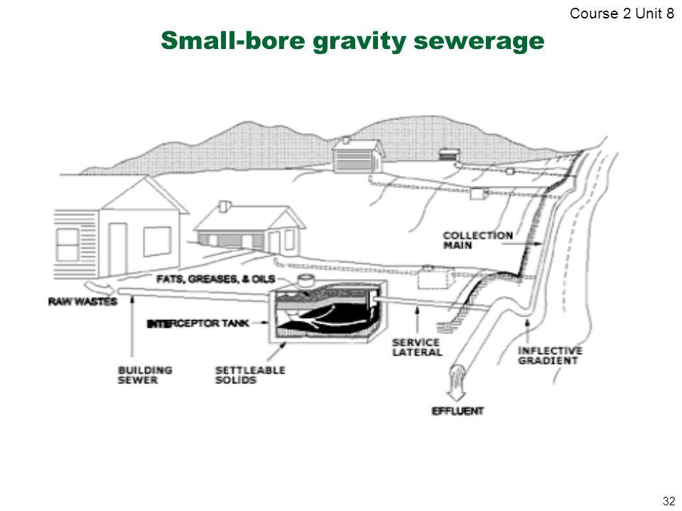 32 Small-bore gravity sewerage Course 2 Unit 8