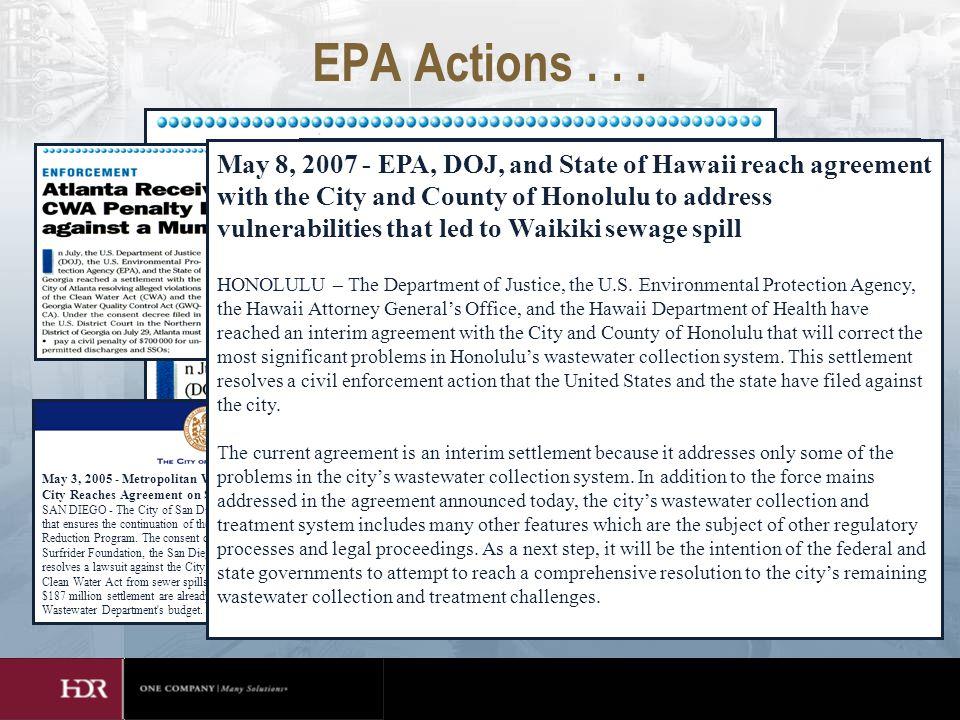 EPA Actions...