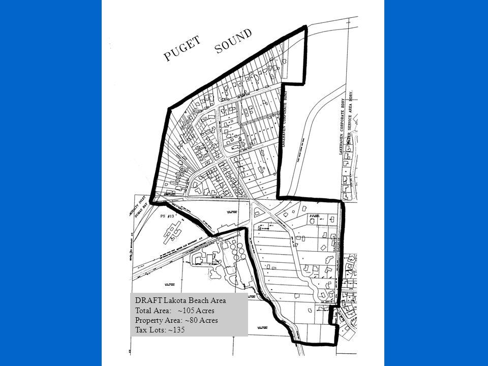 Area of Interest DRAFT Lakota Beach Area Total Area: ~105 Acres Property Area: ~80 Acres Tax Lots: ~135