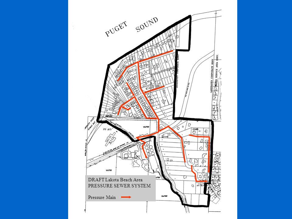 DRAFT Lakota Beach Area PRESSURE SEWER SYSTEM Pressure Main