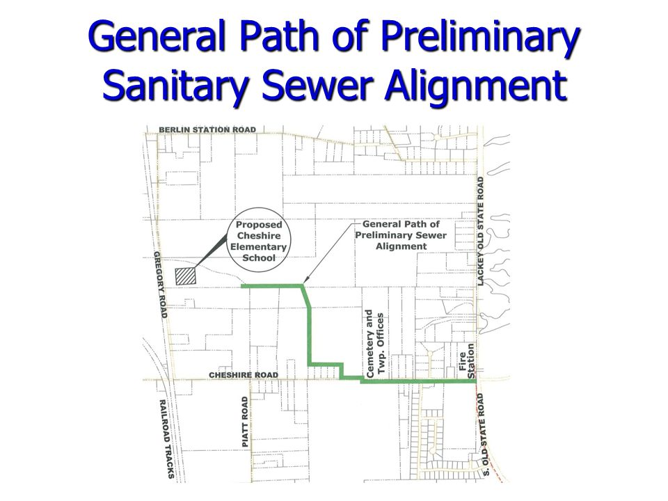 General Path of Preliminary Sanitary Sewer Alignment