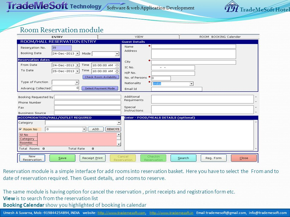 Software & web Application Development TradeMeSoft Hotel List if Income/Expenditure Account ledger list showing the income and expenditure entry done from Hotel Software.