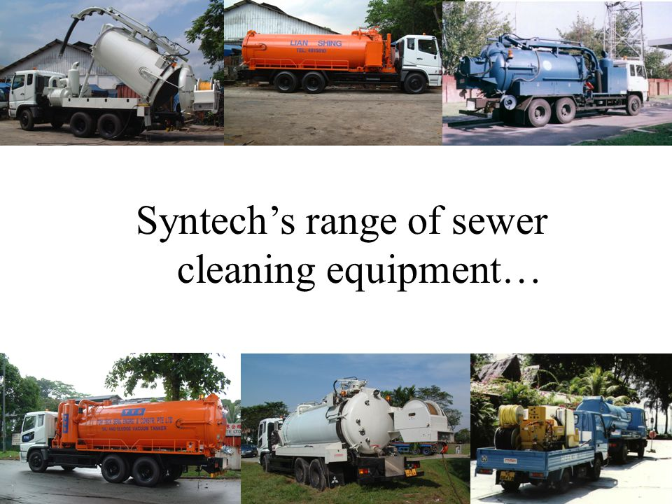 Syntech's range of sewer cleaning equipment…