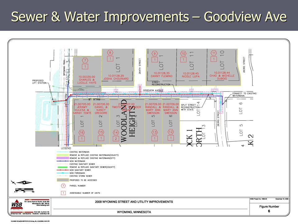 Sewer & Water Improvements – Goodview Ave