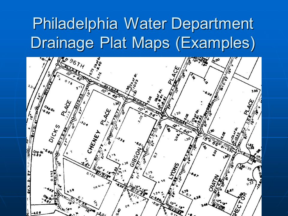 Philadelphia Water Department Drainage Plat Maps (Examples)