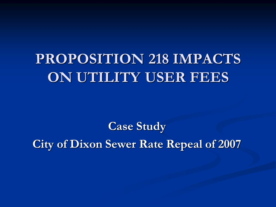 City of Dixon 2007 Sewer Rate Repeal Act I – The Sewer Issues  The City of Dixon operates a wastewater treatment plant (WWTP) that utilizes a land-based treatment and discharge process consisting of treatment ponds, and evaporation and infiltration ponds  Since 1995, the City has been operating its WWTP under several Cease & Desist Orders (CDO) issued by the California Regional Water Quality Control Board (RWQCB)  The primary issues with the RWQCB include addressing adequate capacity to meet residential growth surges during the 1990s and beyond, high infiltration and inflow in the sewer collection system, and elevated salinity levels in wastewater potentially impacting groundwater in the Central Valley