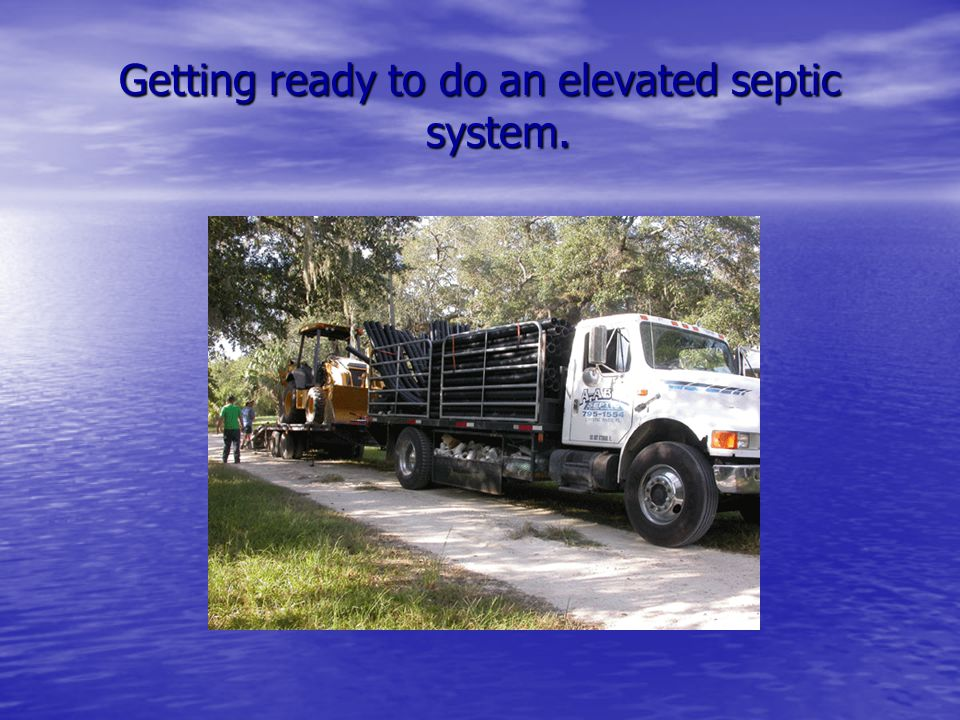 Getting ready to do an elevated septic system.