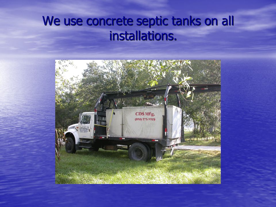Clean fill material for drain field installation.