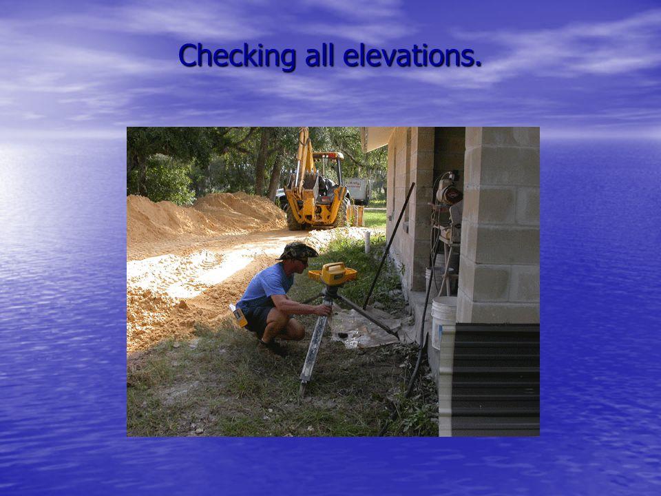 Digging a level ditch.