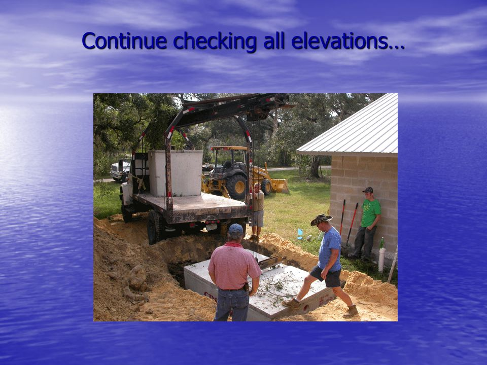 Continue checking all elevations…