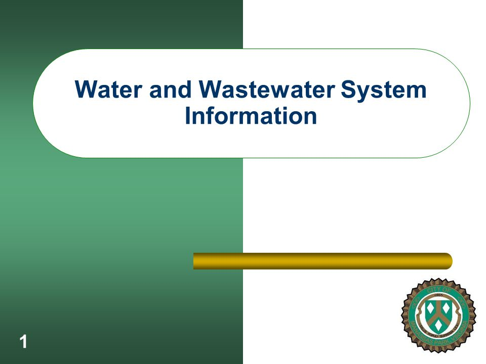 1 Water and Wastewater System Information
