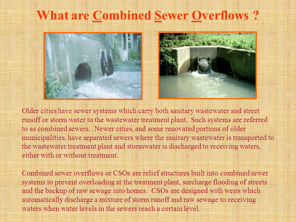 What are Combined Sewer Overflows .